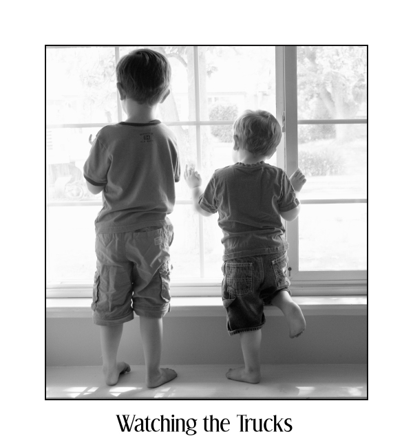 watching the trucks